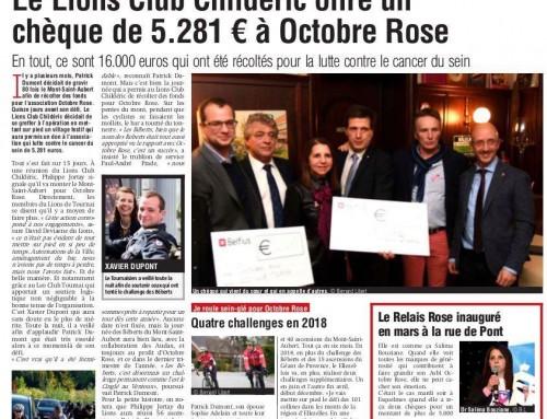 SUDPRESS – Le Lions Club Childeric