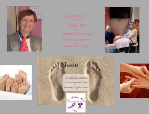 Atelier : Réflexologie plantaire et massage des mains